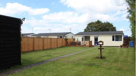 The pre-fabricated bungalow on Humber Doucy Lane in Ipswich is on the market for £195,000 with Grace Estate Agents