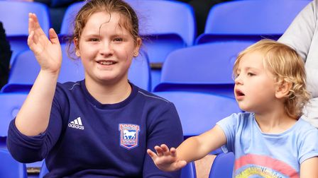 Young fans at the game.