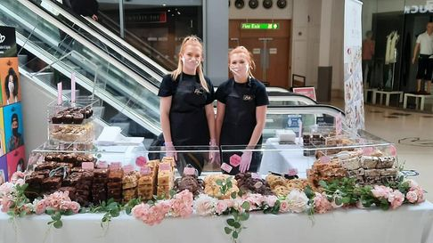 Rebecca and Bethany Sadler held Twin Bakes first pop sale on Saturday July 31 in Norwich's Castle Quarter to great success