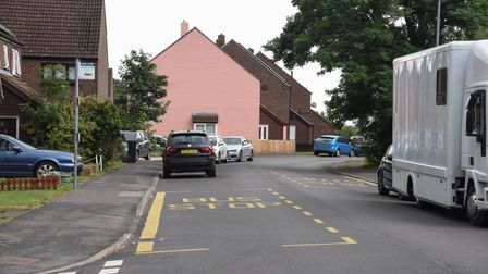 Middleton Crescent in New Costessey where two people were found dead in a home. Picture: Danielle Bo