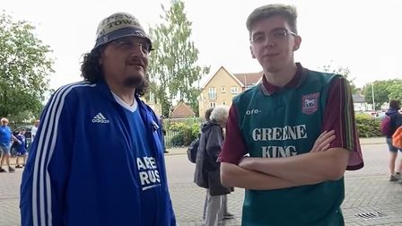 Ipswich Town fans Mike Turbert and Mark Beck speak to Gameday after Town's 3-0 loss to Millwall yesterday