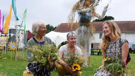 Judith Thompson, left, with Linda Kay, centre, and Della Reed, who together worked on the Diaphanous