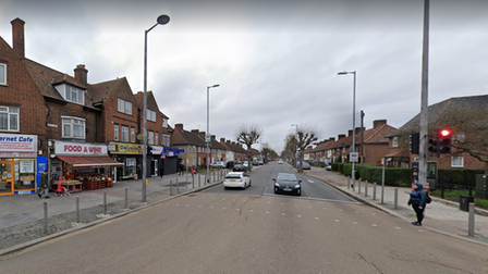 Parsloes Avenue in Dagenham, at the junction with Heathway.