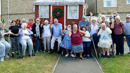 Whittlesey residents at Housing 21 at Christmas event