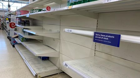 Empty shelves in the water aisle of aTesco store have been reported up and down the country.