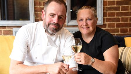 Owners Chris and Hayley. The Three Kings pub in Fornham is opening Picture: CHARLOTTE BOND