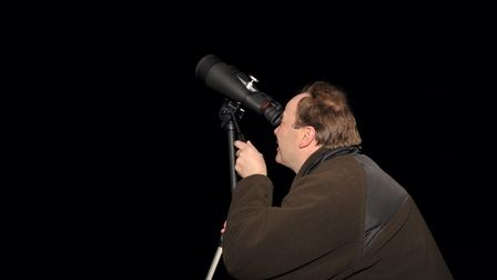 Stargazers congregated in Christchurch Park to join in with the BBC's Stargazing Live. Neil Whiting