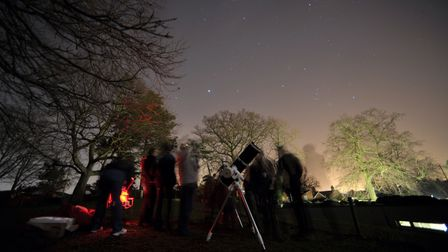 Stargazers congregated in Christchurch Park to join in with the BBC's Stargazing Live.