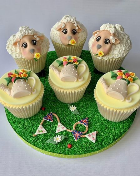 Cupcakes made and decorated by Leigh-Chantal Caesar from Dagenham