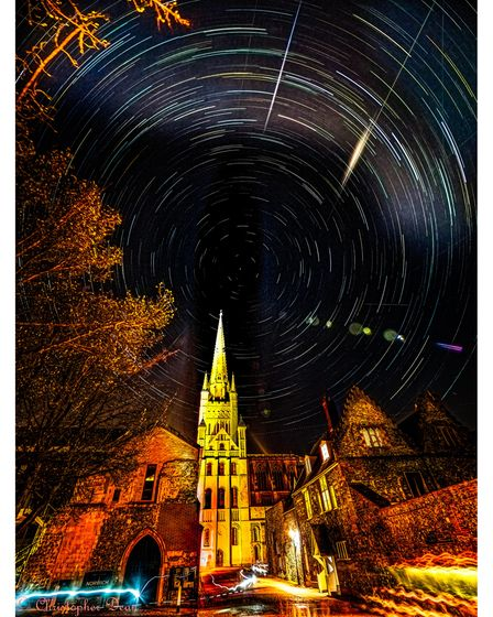 Passing cyclists, torch-bearers, star trails and meteors ...... the relentless passage of time ....