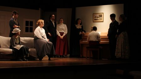 Rehearsals at Fakenham academy for the production of Little Women back in 2020, before it was cancelled.