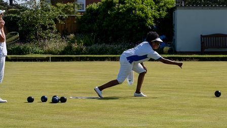 Penny Weeks & Rosemary Carter in the Budleigh Bowls Competitions