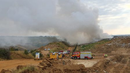 Fire crews are tackling a blaze which broke out at a refuse site on Mill Drove, inBlackboroughEndnear King's Lynn.