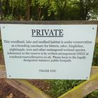 Sign at Roswell Pits that has attracted the attention of our readers