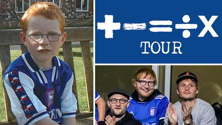 Suffolk superstar Ed Sheeran has posted a throwback picture of him in an Ipswich Town shirt after to