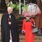 The Queen leaving church after morning service on Christmas Day at Sandringham. Picture: Ian Burt