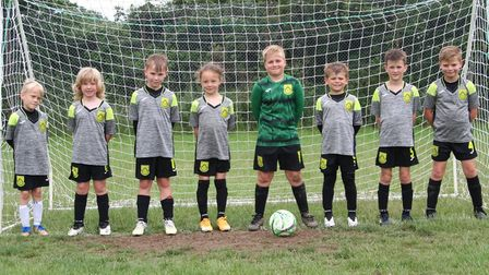 The Dunmow Rovers U7 Tigers squad who went through their first season undefeated