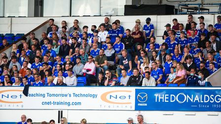 Fans pictured during the game.