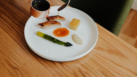 One of the dishes on the tasting menu at Meadowsweet at Holt