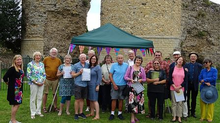 The winners and judgers of the Bungay In Bloom best kept garden competition 2021.
