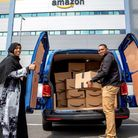 Safia Jama arrives to pick up supplies for her Somalicommunitykitchen