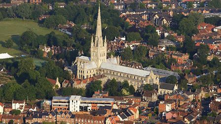View of Norwich Cathedral. Norwich accountants have moved to new HQ in the city. by Mike Page.