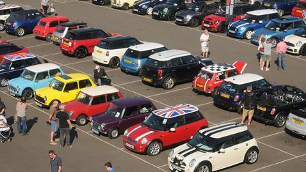 Scenes from the Mini Meet on the Tuesday Market Place in King's Lynn. Picture: Ian Burt