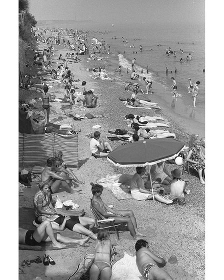 Felixstowe beach at Jacob's Ladder as it was in August 1981.