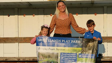 Laura Woods from Whitelands Play Park, with her two children.