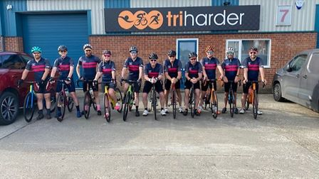 Cyclists who took part in the cycle for Lorraine Simons.