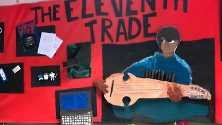 Artwork created by Year 6 students at Dunmow St Mary's Primary School, Great Dunmow, Essex
