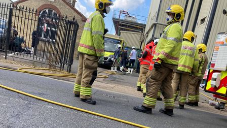 Fire crews could be seen outside of Banham Poultry in Attleborough on Wednesday August 4.