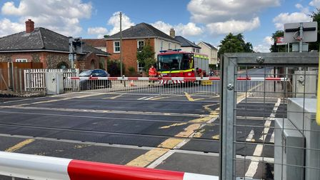 Fire crews could be seen in Attleborough on Wednesday August 4.