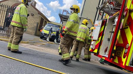Emergency services could be seen at Banham Poultry in Attleborough on Wednesday August 4.