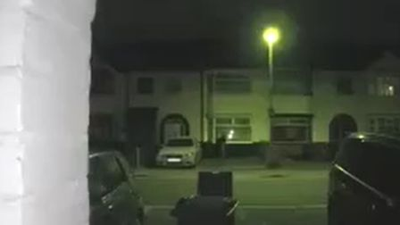 A neighbour's motion activated security camera captured some moments before and after the theft.