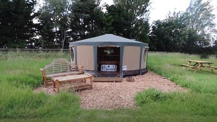 Bell tents, safari tents and yurts are among glamping options at Horsley Hale at Littleport.