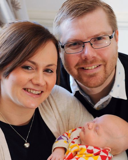 Bryony and Ben Seabrook, with their son nine-week-old Jenson. Bryony works at Savills and the compan