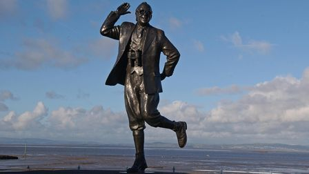A general view of the Eric Morecambe statue in Morecambe, which was created by the sculptor Graham I