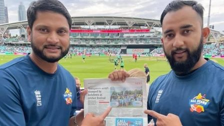 Theyeven took copies of their east London paper reporting onthe Victoria Park cricket festival to hand out at The Oval