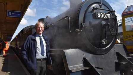 Exclusive look at the Mid-Norfolk Railway in Dereham, ahead of re-opening. Pictured is Charlie Robin
