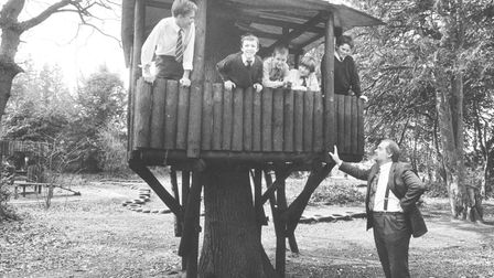 Education -- SchoolsA tree house of their own for pupils at Eaton Hall School in Norwich, pictur