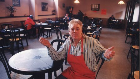 Norwich -- Buildings -- BNorwich Bus Station cafe owner Peter SmithDated -- 6 March 1996