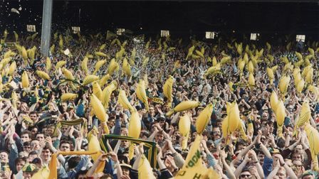 Sport - Norwich City Football ClubNorwich City supporters waving their inflatable Canaries.