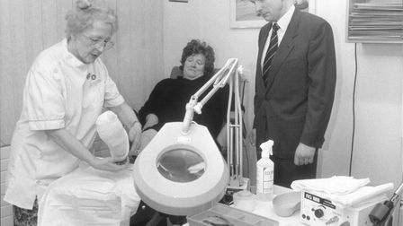 Dr Richard Greenwood in one of the treatment rooms.Dated: December 3rd, 1990