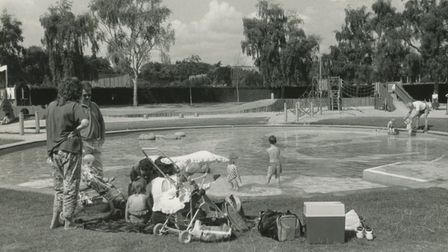 The children's play area in Waterloo Park, 1991. Picture: Archant Library