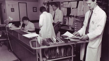 Dr Jasper Goodwyn at the Norfolk and Norwich Hospital, June, 1991. Picture: Archant Library