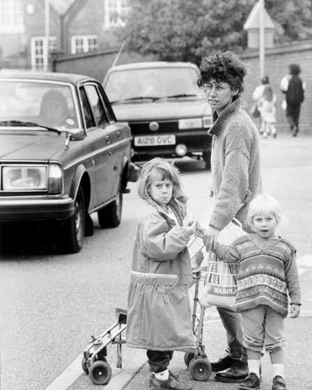 Norwich Streets BBull Close Road Traffic Problems Dated -- 28 September 1990Photograph