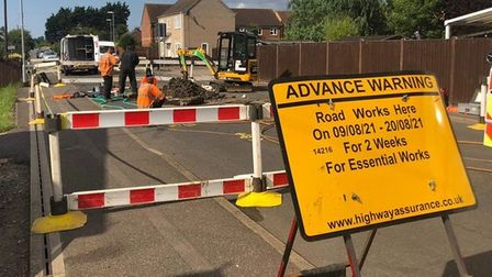 Hundred Road and Norwood Road March closed due to gas leak