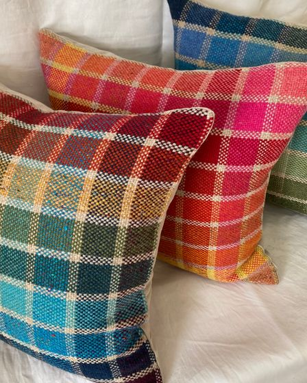 Eleanor Dale's color chart cushions