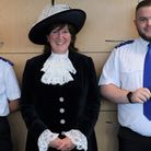 Cadets Jade-Lee Davis from St Neots and Billy Cunningham from Wisbech, were awarded as sheriff cadets.